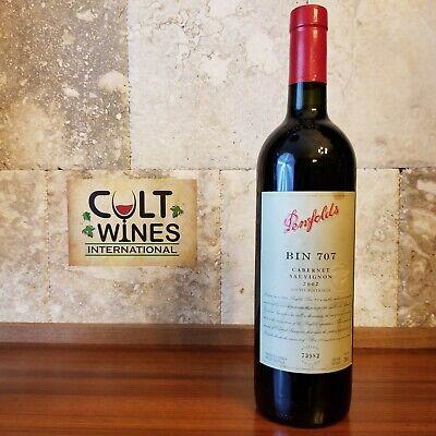 JR 18/20 pts! 2002 Penfolds Bin 707 Cabernet Sauvignon wine, South Australia