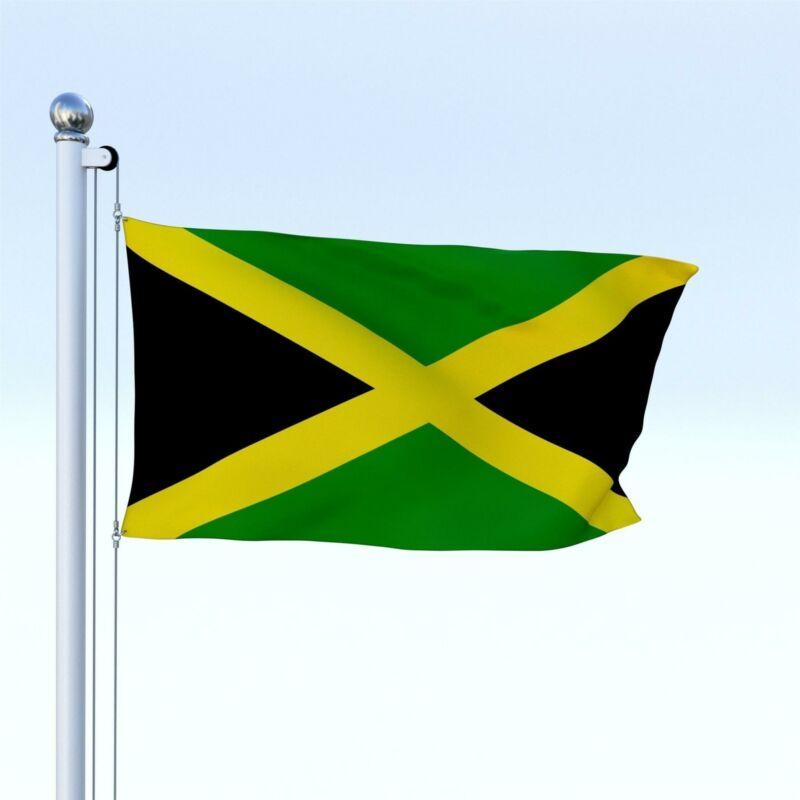 Giant JAMAICA JAMAICAN CARIBBEAN NATIONAL FLAG CRICKET FOOTBALL SUPPORT 5 x 3FT