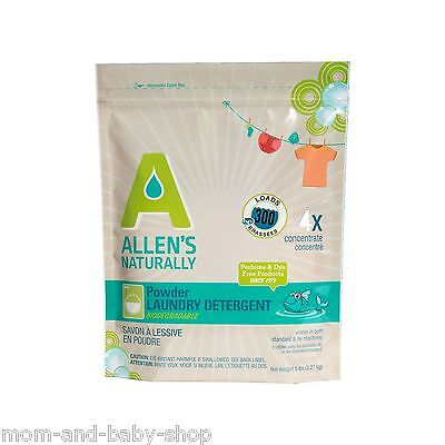 Allens Naturally Detergent - ALLENS NATURALLY DIAPER WASHING LAUNDRY DETERGENT POWDER ULTRA CONCENTRATED 5 LB
