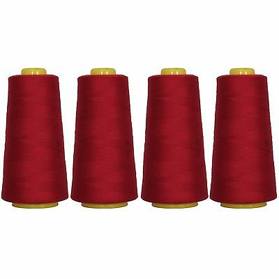 4 Big Cones Bay Berry Serger Sewing Thread 2750 Yd Tex 27 40S 2   Threadart