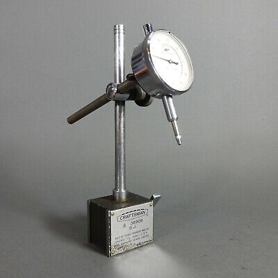Vintage Magnetic Indicator Stand Sears Craftsman 9-38908 W Dial Indicator
