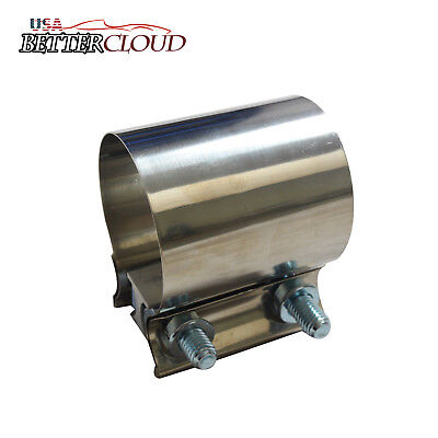 "3"" EasySeal Stainless Steel SS T304 Butt Joint Band Exhaust Clamp Sleeve Coupler"