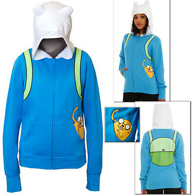 Jake in Pocket Hoodie Adventure Time Finn Jakes Halloween Costume Juniors Girls - Finn Girl Costume