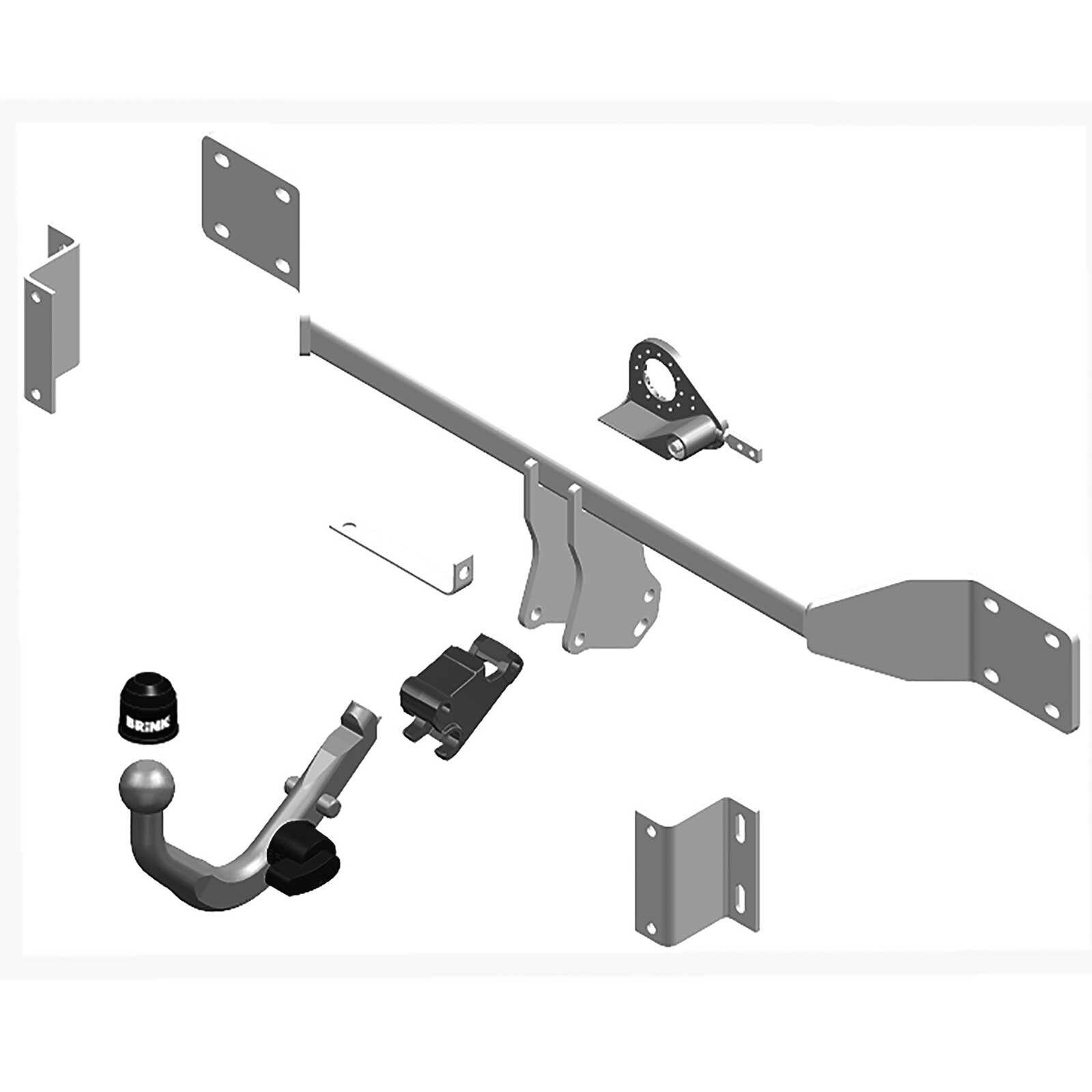 Detachable Tow Bar Brink Towbar for Ford Focus II Estate 2004-2012