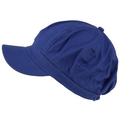 Apple Cotton Cap (Summer 100% Cotton Plain Blank 8 Panel Newsboy Gatsby Apple Cabbie Cap Hat Royal)