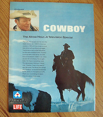 1970 Television Special Ad The Alcoa Hours Present   COWBOY