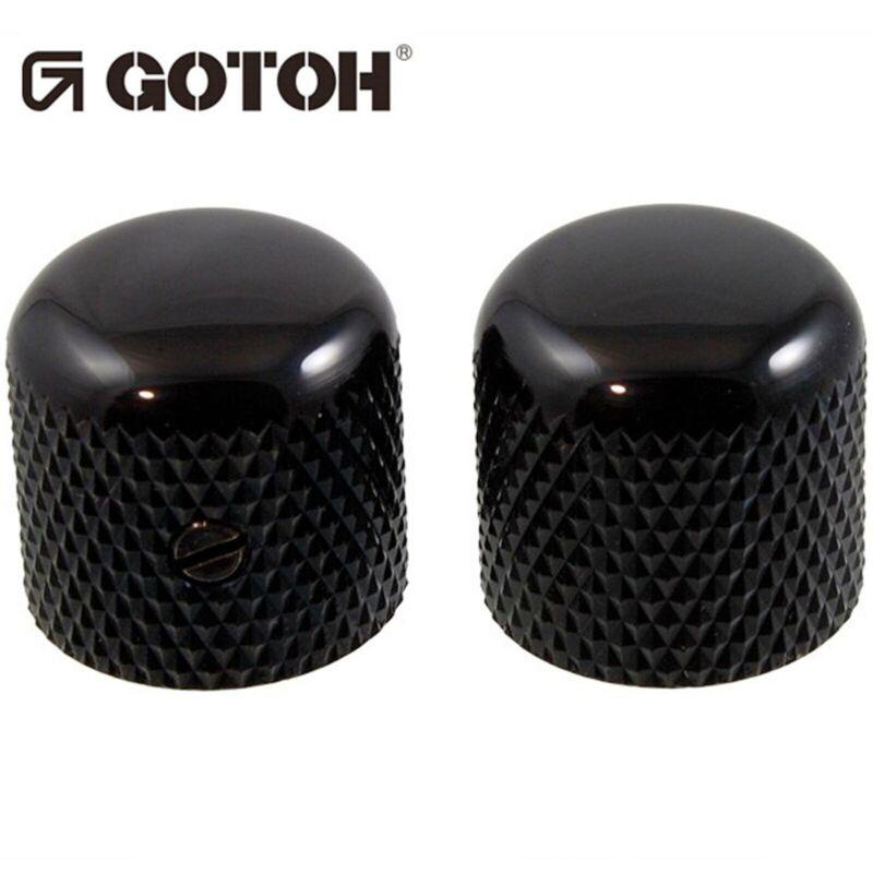 NEW (2) Gotoh VK1-19 - Control Knob - DOME - Bass Guitar 6mm hole METAL - BLACK