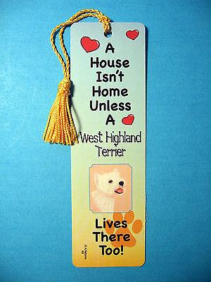 West Highland   A House Isnt Home   Tassel Bookmark  Flag Gold Tassel  Sku  43