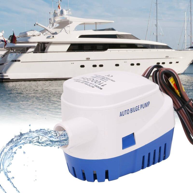 Bilgenpumpe 12V 1100 GPH Boot Wohnwagen Lenzpumpe Tauchpumpe Wasserpumpe