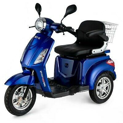 BLUE Trike 3 Wheeled ELECTRIC MOBILITY SCOOTER 900W VELECO ZT15