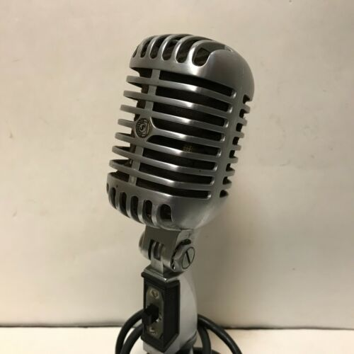 Vintage Elvis Sun Studio  Shure 55S Unidyne Dynamic Microphone with stand