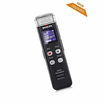 EVISTR 16GB Digital Voice Recorder Voice Activated Recorder wit... Free Shipping