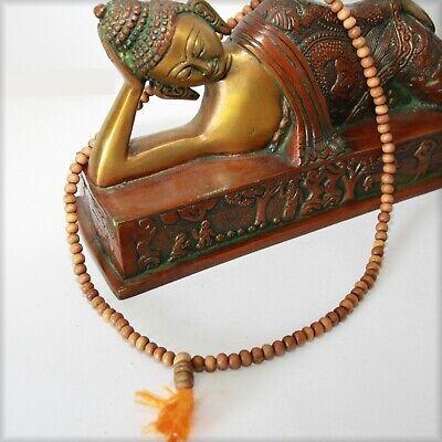 Sandalwood Mala Prayer Chain India Buddhism Om Chain 50 CM Buddha 6mm Yellow