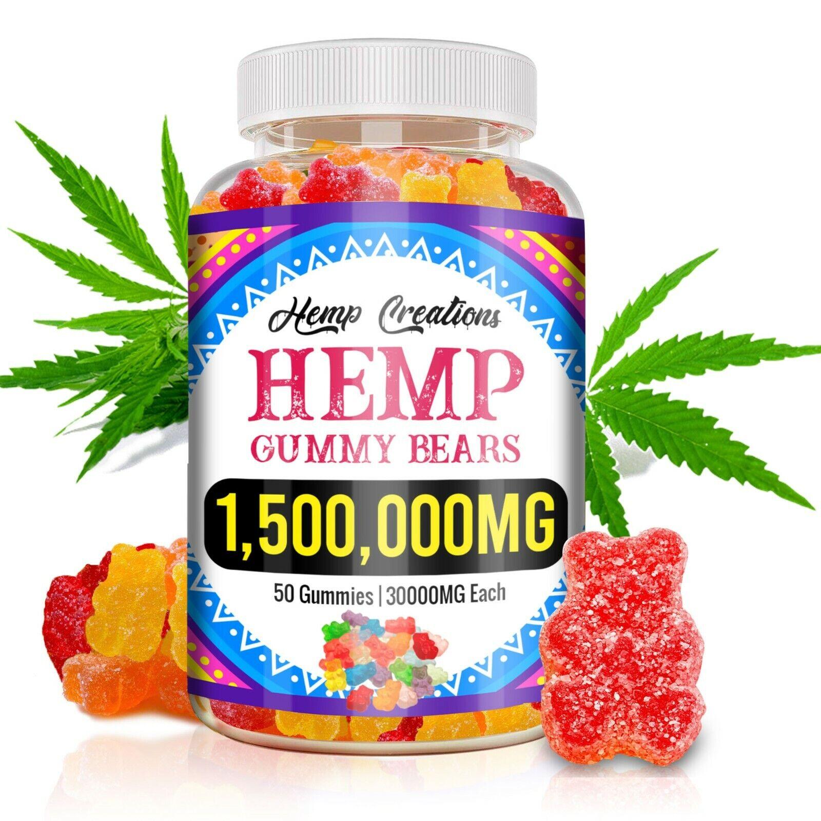 Natural Organic Hèmp Natural Gummiès, Pain, Relaxation, Stress Relief, Insomnia