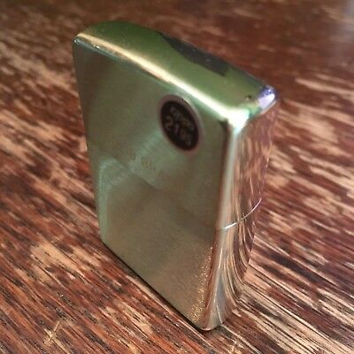 Genuine Zippo 204 solid brushed brass windproof Lighter CASE