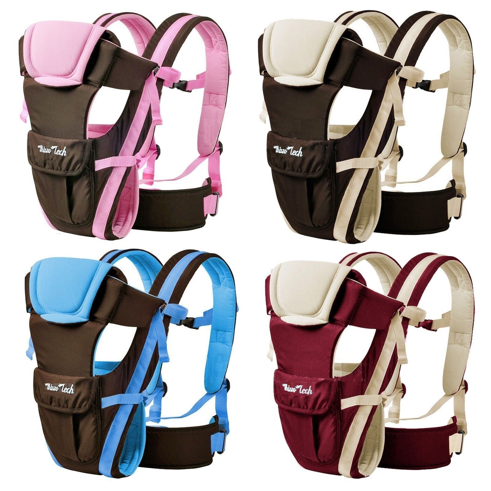 Adjustable Newborn Infant Baby Carrier Comfortable Wrap Rider Sling Backpack NEW