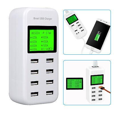 8-Port Smart Multi USB AC Wall Charger Hub Smart Fast Wall C