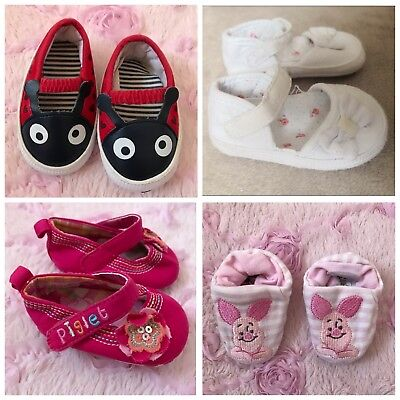 Baby Girl Disney Winnie The Pooh Piglet Ladybird white booties pram shoes 0-3 for sale  Shipping to South Africa
