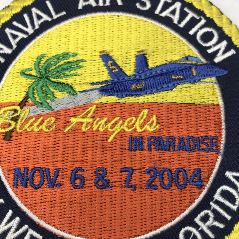 Blue Angels Naval Air Station Key West Florida Patch 2004 Navy Fighter Jet Palm