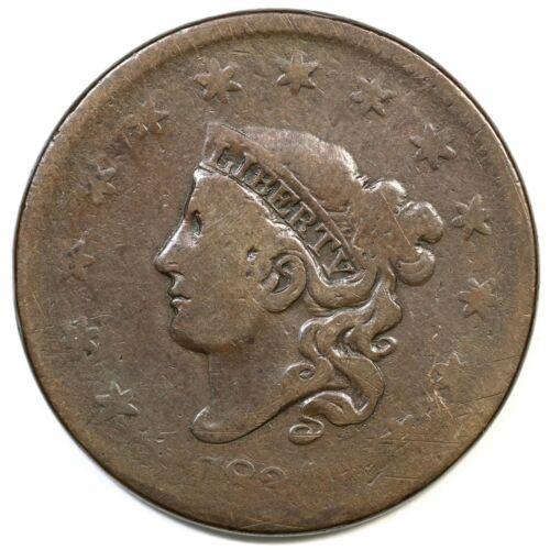 1834 N-6 R-3 Matron or Coronet Head Large Cent Coin 1c