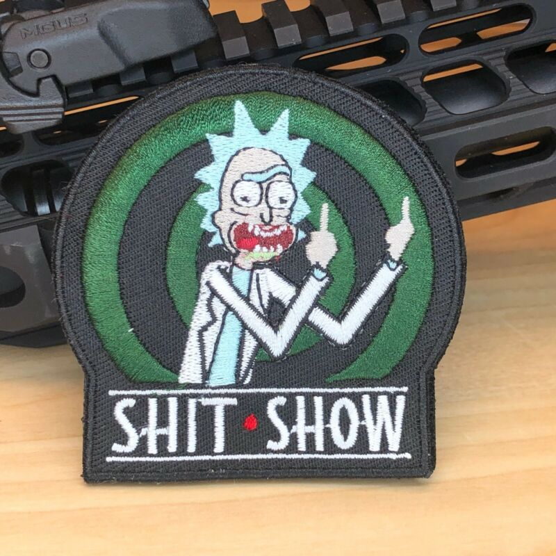 SHOT Show Rick and Morty patch Sh*t show embroidered tactical morale patch