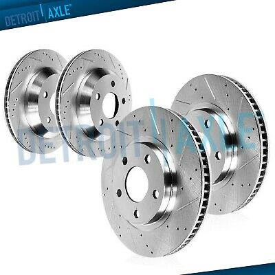 Front & Rear DRILLED SLOTTED Brake Rotors fit 2009 2010 2011-2015 Nissan 370Z