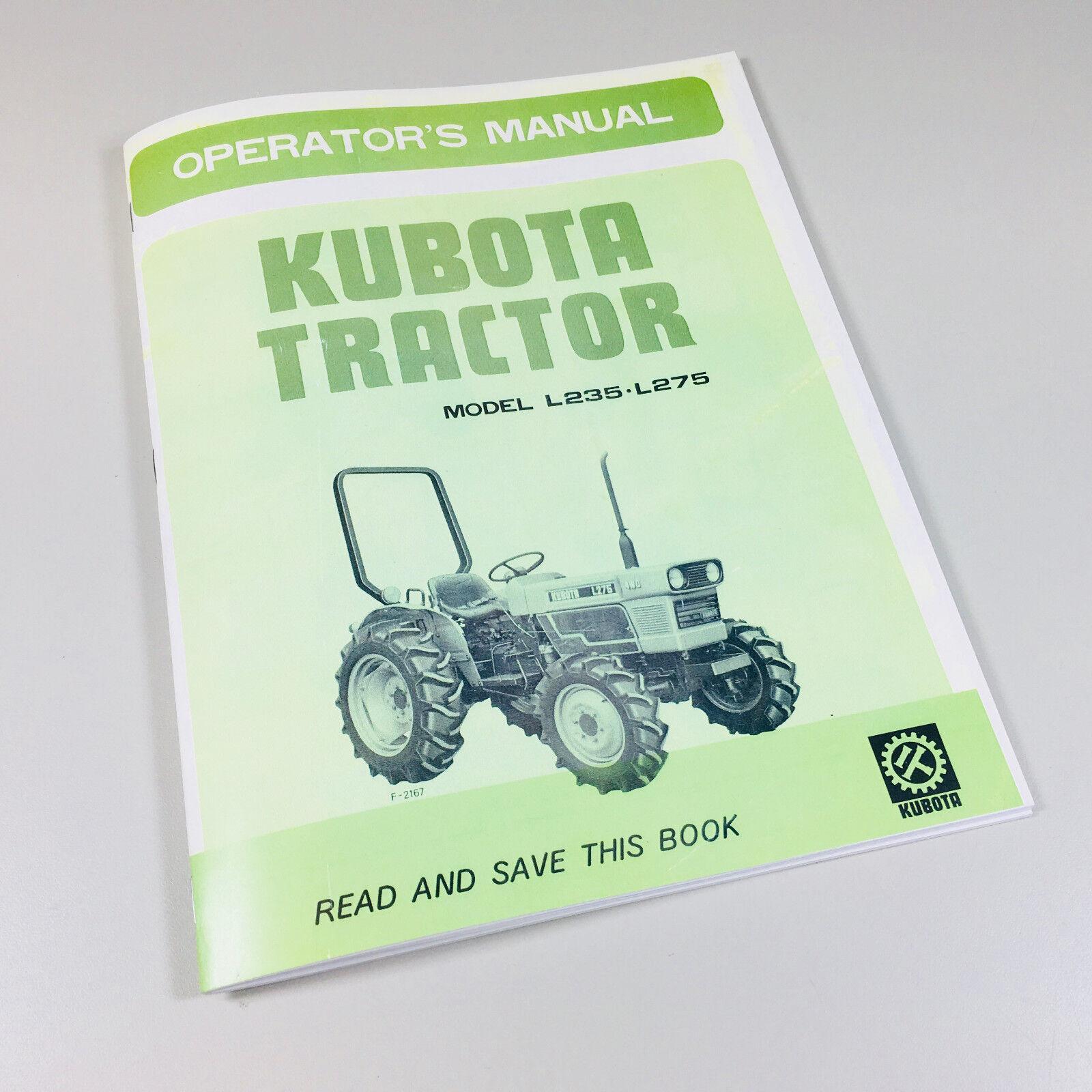 KUBOTA L305 L305DT TRACTOR OPERATORS OWNERS MANUAL PARTS