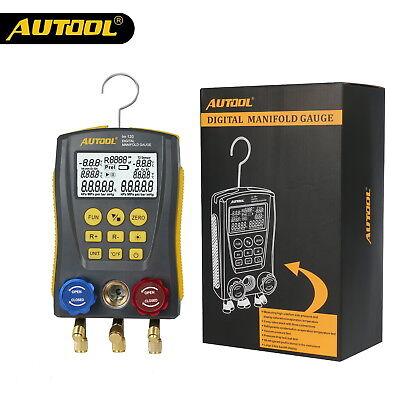 Autool Digital Pressure Temperature Leakage Manifold Meter Hvac Gauge Vacuum