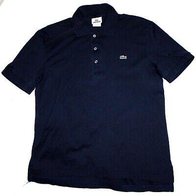 Lacoste Mens Short Sleeve Navy Polo Shirt RN 87651-CA 16998. Size 4