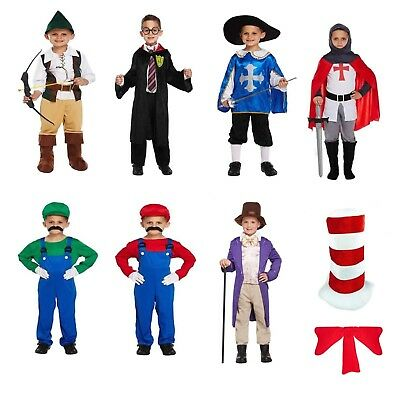 Boys Fancy Dress Dressing Up Outfits Costumes Various World Book Day 4-12 years - Costumes 4 U