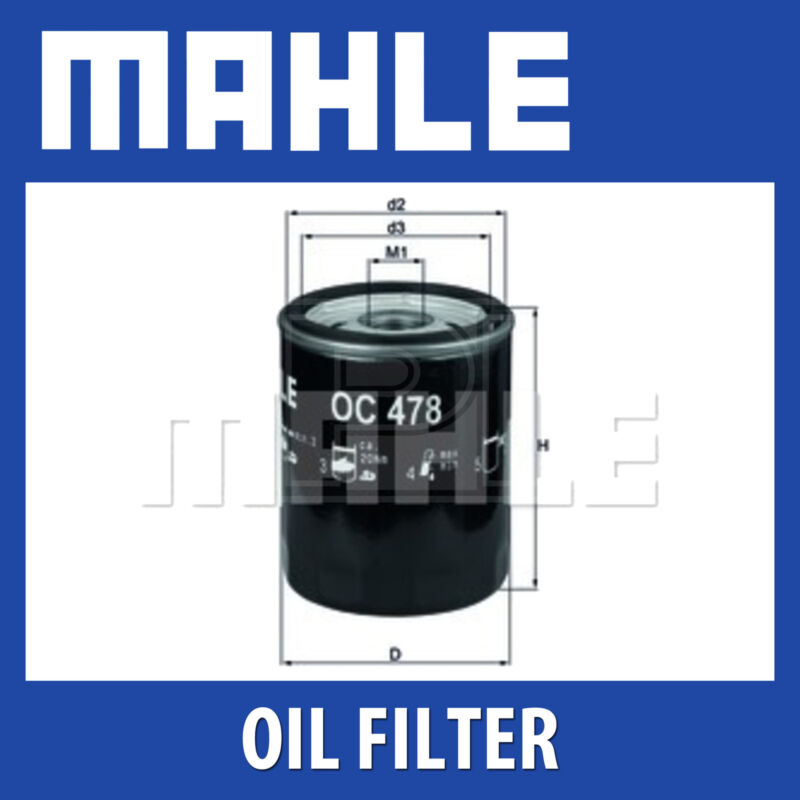 Mahle Oil Filter OC478 - Fits Lexus, Toyota Landcruiser - Genuine Part