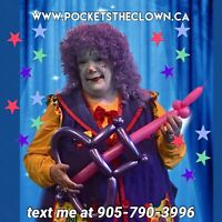 Call  Pockets the Clown for your next birthday party
