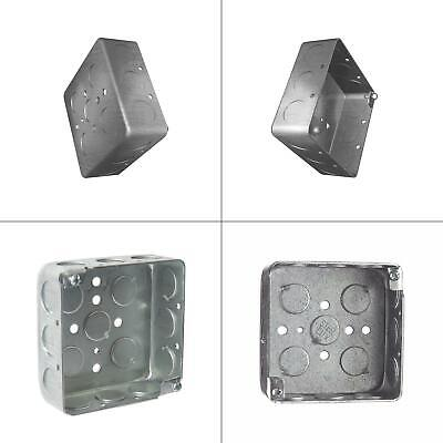 2-gang 4 In. X 1-12 In. Deep Square Metal Electrical Box Case Of 50