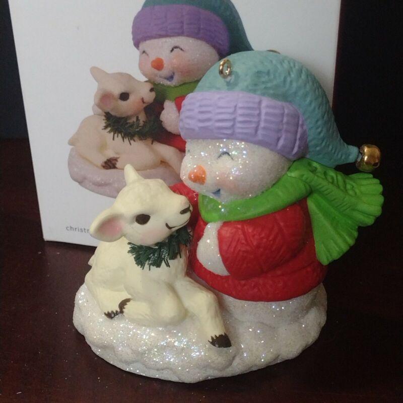 Hallmark SNOW BUDDIES #21 Keepsake Christmas Ornament 2018  Series Lamb Winter