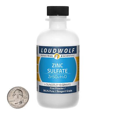 Zinc Sulfate 4 Ounce Bottle 99.3 Pure Reagent Grade Fine Powder Usa