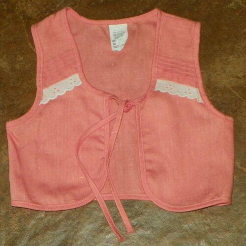 Vintage Girls Peach Pink VEST Size 4