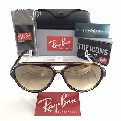 New Ray-Ban RB4125 Cats 5000 710/51 LIGHT HAVANA CRYSTAL BROWN GRADIENT 59 mm Crystal Brown Gradient Sunglasses