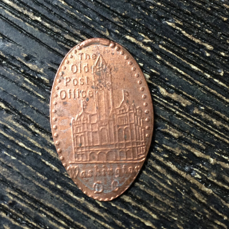 The old post office washington DC Pressed smashed elongated penny P8401