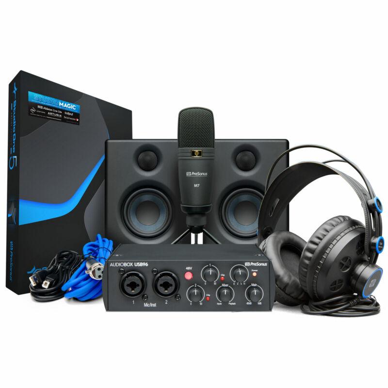Presonus Audiobox 96 Ultimate Bundle Recording-Set Black