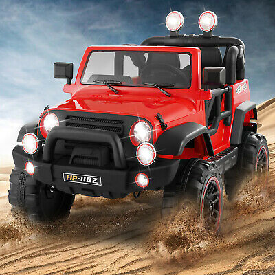 12V Electric Battery Kids Ride on Car Truck Toys LED Music W/Remote Control Red