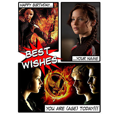 HUNGER GAMES - Personalised Birthday Card - Son, Daughter, Nephew, Niece, Friend