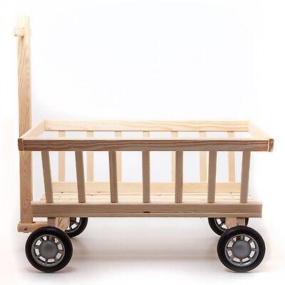Handwagen Bollerwagen Leiterwagen 72 cm Holz für Kinder