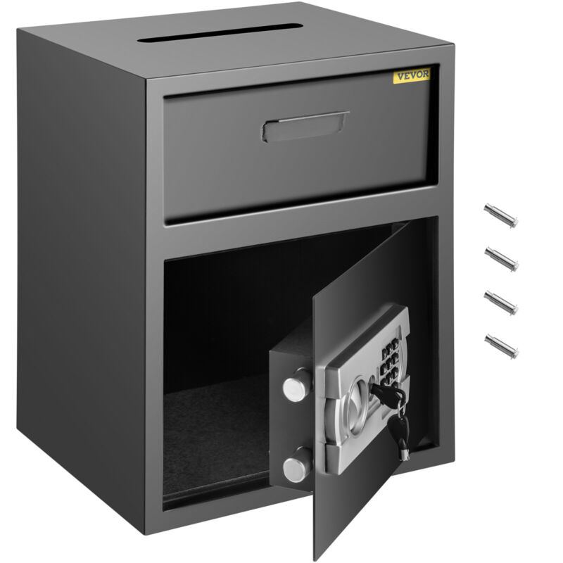 VEVOR Digital Safe Box Depository Drop Deposit Front Load Cash Vault Dependable