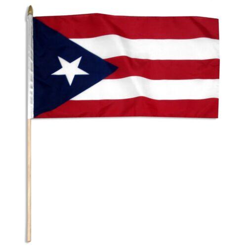 "12""X18"" STICK FLAG - PUERTO RICO"