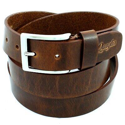 Cintura Uomo Pelle Marrone Noce in Cuoio vera Cinta da Donna Casual di 3,5 cm c0