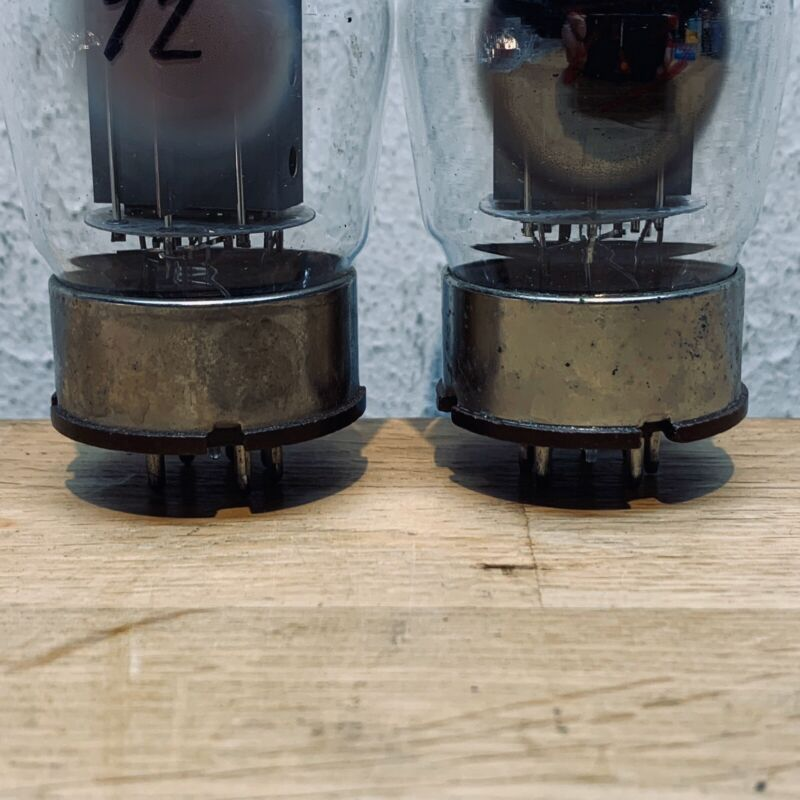 Vintage RCA 6550 tubes Valve Matched Pair Tested 72/73 Mim 44
