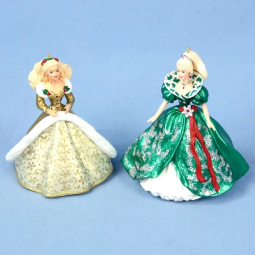 Hallmark Lot of 2 Holiday Barbie Ornaments (#2 and #3) in Original Box