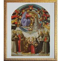 7 Domenico Bigordi (ghirlandaio) Incoronazione Della Vergine Stampa D' Arte Oro -  - ebay.it