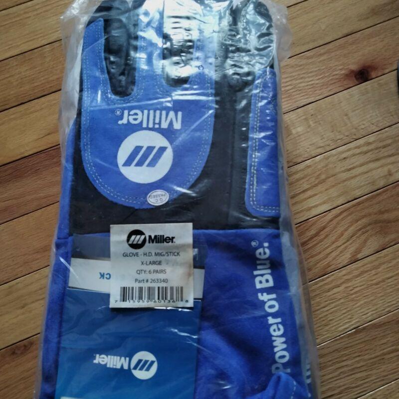 Miller Heavy-Duty Mig/Stick Welding Gloves--X-Large 263340