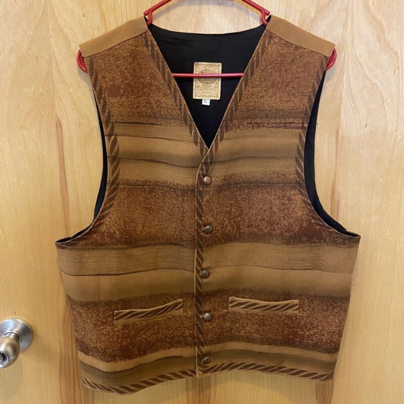 WAH Maker Frontier Clothing Vest Large Cowboy Western Reinactment